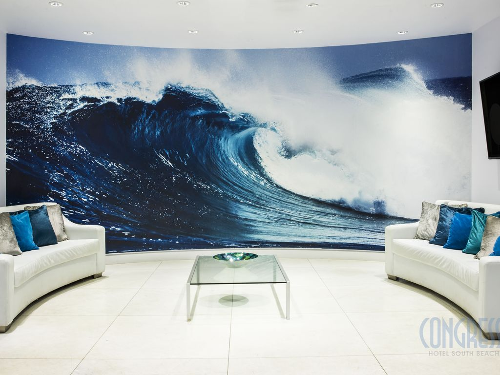 Ocean Wallpaper For Bedroom One Bedroom Suite Congress Ocean Drive Miami Beachflorida