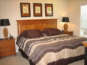 Master bedroom/ king size pillow top mattress,TV/DVD, large walk-in closet