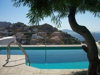 Hydra Island villa photo - Private pool overlooking sea and harbor