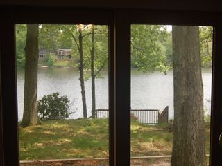 Copake house photo - These is the dining room doors, look how close you are to the lake