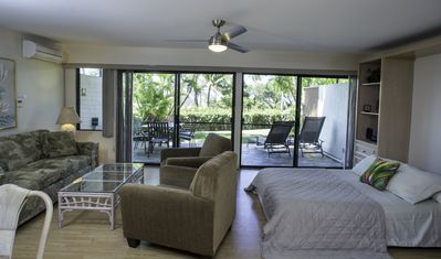 Welcome to Maui Kamaole I-103 - guests love the Murphy bed in the living room