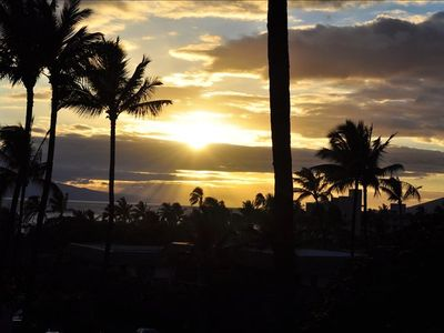 The sunsets of Maui will glow in your memory.  Enjoy them from the lanai.