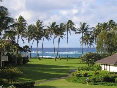 Poipu condo rental - Beautiful grounds of the resort (not adjacent to condo)