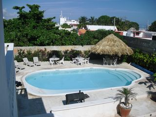 Progreso apartment photo - Pool side palapa