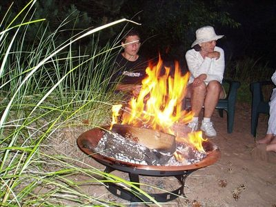 Enjoy and evening campfire