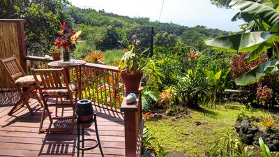 Intimate lanai with full ocean view