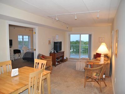 Brigantine condo rental - Dining, Family Room and Master bedroom - Ocean front views