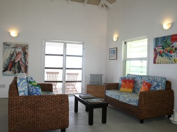 Relax on comfy couches - BeachComber Great Room