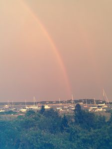 Rainbow over Edgartown Harbor