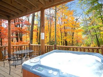 Relax in the secluded Hot Tub