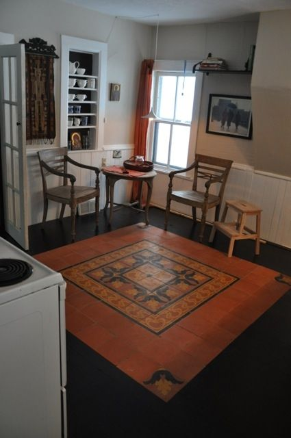 Kitchen. bamboo flooring and tiles imported from old Dutch factory in Indonesia