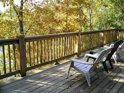 Spacious 2nd level deck to take in nature!