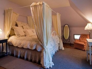 """Rebecca's"" King Canopy Bedroom is a Perfect Romantic Get-Away"