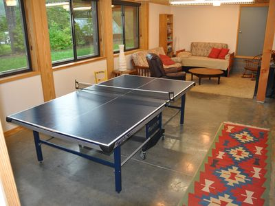 Den - ping pong table and TV area
