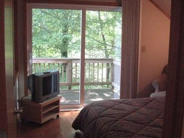 Master bedroom with deck