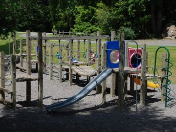 Snowline Playground is just a short walk to the house