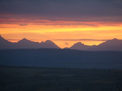 Some of the beautiful sunsets from our deck