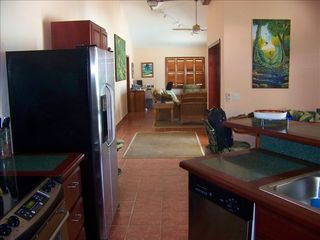 Ambergris Caye house photo - View from kitchen to living room