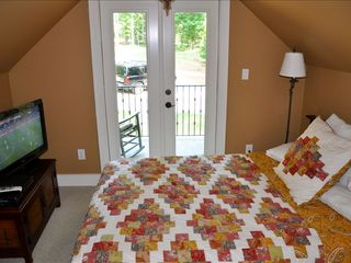 Lake Gaston house photo - Bdrm #4-Queen Size bed, new sat HDTV, Private Walk Out Balcony!