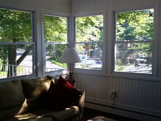 View of lake and docks living room - Greenwood Lake house vacation rental photo