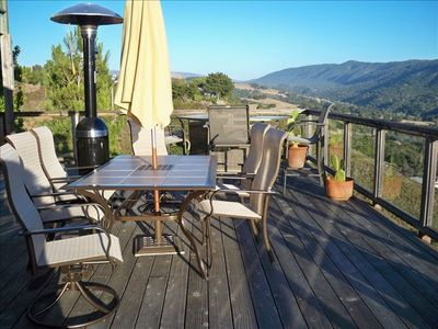 Carmel Valley house rental - Deck off of living room looking east