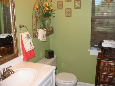 Master bath can be closed off with the bedroom to make a master suite.