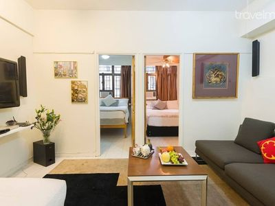 Apartment type 3, for short or long stays, for up to 5 people