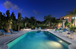 Sandy Lane villa photo - Twilight by the pool at Saramanda villa in Barbados