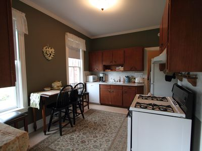 Kitchen: dishwasher, garbage disposal, microwave, stove and refr. toaster and..