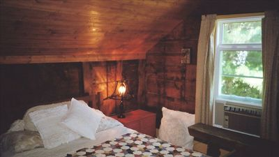 "Our ""attic-styled"" bedroom with double bed."