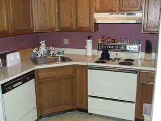 Mount Snow condo photo - There is a full kitchen complete with dishwasher, microwave, and cookware.