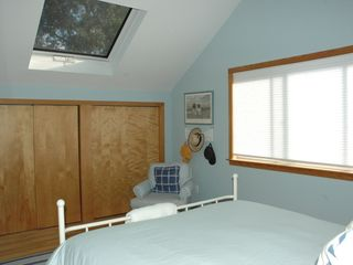 East Quogue house photo - Master bedroom with skylight