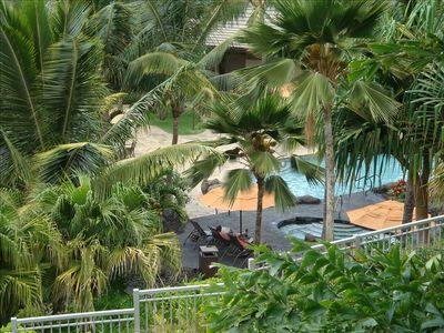 View from our Lanai to the Ho'Olei Pool .