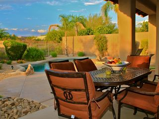 Scottsdale house photo - Outdoor Dining Area with gas BBQ