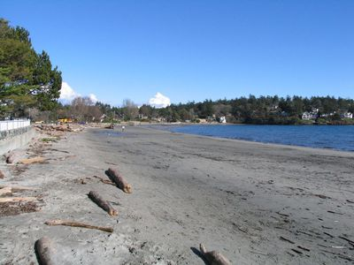 Cadboro Bay beach beside the village - and a 5 minute walk from Arbutus House
