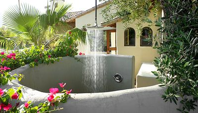 Outdoor Shower Right Outside Master Bedroom