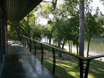 Norfork lodge rental - Back Covered Wrap Around Balcony (child friendly)