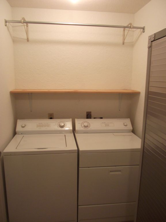 Full size washer and dryer provided in the home in case you need to do laundry