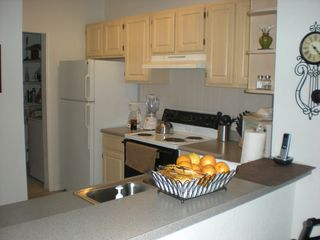 Kitchen with Laundry room to the left - Kissimmee condo vacation rental photo