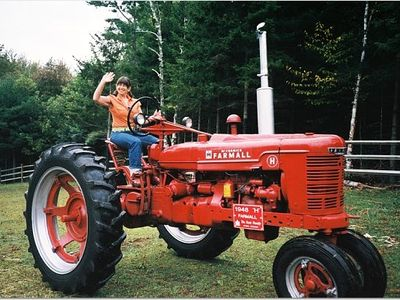 Stowe house rental - One of our classic 1948 farm tractors....
