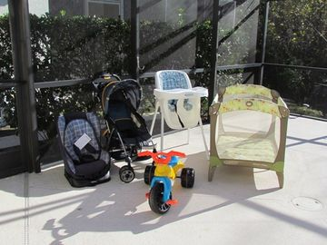 Lots of baby equipment