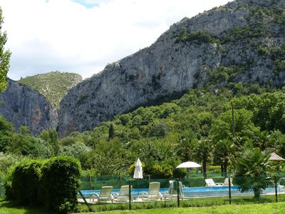 cottage with pool in a large farmhouse in Anduze in the Cevennes