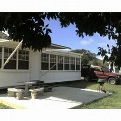 Culebra house photo - Exterior: patio, table benches, BBQ, awning, SUV