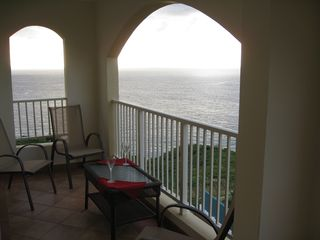 Aguadilla condo photo - Covered Patio Overlooking Crashboats Beach and Aguadilla Bay