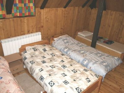 Bedroom 1: spacious with 4 beds
