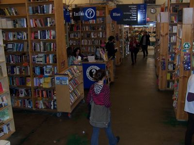 Prowl to your heart's content in Powell's, the Planet's biggest, best bookstore!