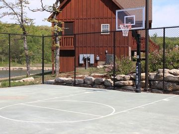 Half court basketball court.