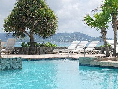 2 tier pool overlooking the Carribean & St. John