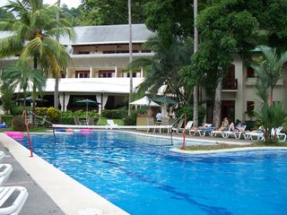 Jaco villa photo - Restaurant~Bar~Pool & Spa right across the street