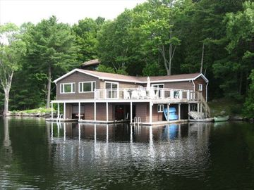 Picture of the boathouse. Notice the two ladders to get in and out of the water.